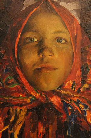 Filipp Malyavin. Verka, oil on canvas. Tretyakov Gallery, Moscow